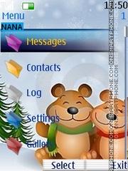 Скриншот темы Snow Teddy Clock