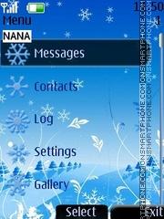 Snowflake Clock Theme-Screenshot
