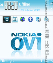 Nokia Ovi theme screenshot