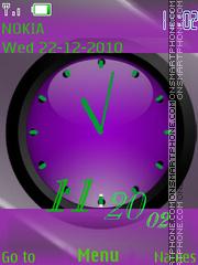 Analog Clock(AR) theme screenshot