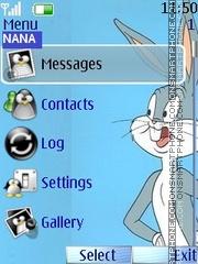 Winter Bunny Clock theme screenshot