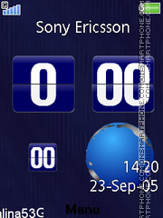 Earth Clock 01 theme screenshot