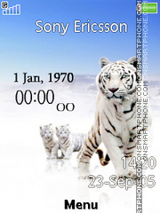 Tiger Clock 01 es el tema de pantalla