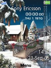 Winter Clock 01 es el tema de pantalla