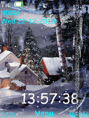 Animated Snow Clock theme screenshot