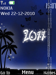 Happy New Year 2011 08 theme screenshot