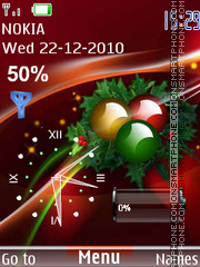 Festive Clock theme screenshot