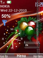 Festive Clock tema screenshot