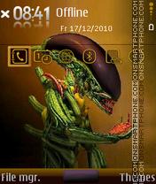 Alien 11 theme screenshot