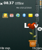 Love flowers theme screenshot