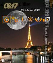 Скриншот темы Paris Night 02