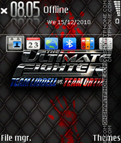 Ultimate fighter theme screenshot