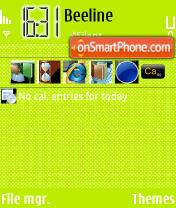 Скриншот темы Dots Lemon