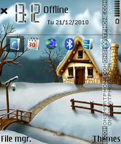 Скриншот темы Happy Winter 01