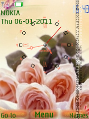 Orange roses tema screenshot