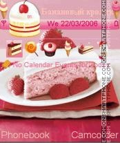 Скриншот темы Strawberry Cake