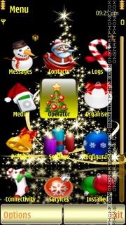GoldenXmas Tree tema screenshot