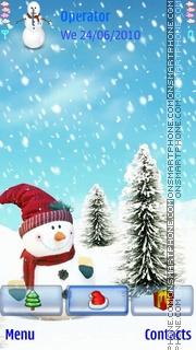 Animated SnowMan theme screenshot
