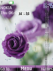 Purple flowers theme screenshot