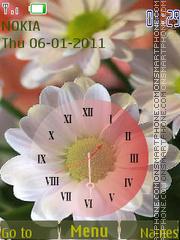 Autumn chrysanthemum theme screenshot
