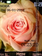 Rose and Clock theme screenshot