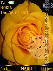 Скриншот темы Yellow Rose