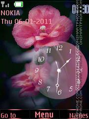 Poppies and Clock theme screenshot