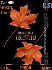 Maple leaf theme screenshot