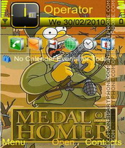 Medal of Homer theme screenshot