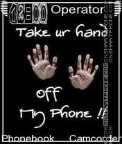 Dont Touch es el tema de pantalla