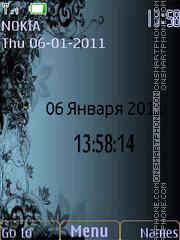 Dark flowers theme screenshot