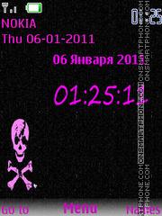 Pink and black theme screenshot