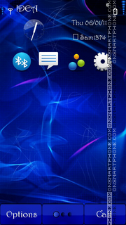 Blue Clarity s^3 theme screenshot