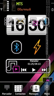 Elegent Htc tema screenshot