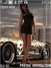 Need for speed girl in for 2 es el tema de pantalla
