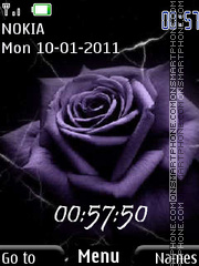 Dark Rose and Clock theme screenshot