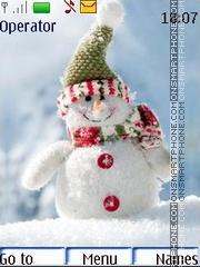 Скриншот темы Snowmen