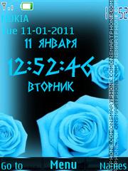 Blue rose theme screenshot