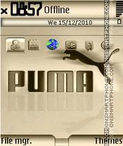 Gold Puma theme screenshot