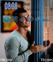 Скриншот темы Ronaldo Smile