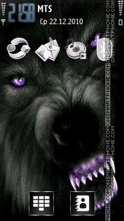 Black Wolf theme screenshot