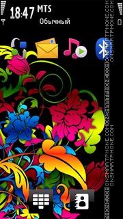 Digi Flowers tema screenshot