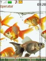 Goldfishes animated theme screenshot