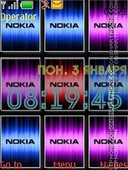 Nokia animated swf theme screenshot