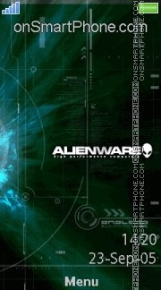 Alienware 10 es el tema de pantalla