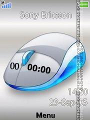 Mouse Clock es el tema de pantalla