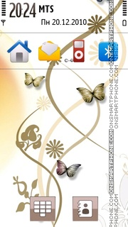 Gold Butterfly 02 theme screenshot