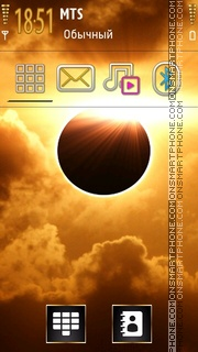 Orange Eclipse theme screenshot