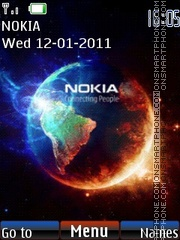 Nokia earth animated theme screenshot