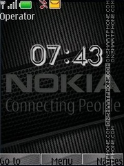 Nokia clock swf theme screenshot